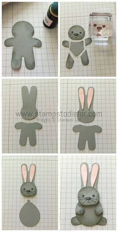 2016  CUTE BUNNY  Created by The Pampered Stamper USING the COOKIE CUTTER CHRISTMAS PHOTOPOLYMER BUNDLE Price: $35.00