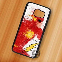 Superhero Painting The Flash - Samsung Galaxy S7 S6 S5 Note 7 Cases & Covers