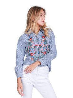 Cheap shirts cheap, Buy Quality shirt juventus directly from China shirt leather Suppliers: Simplee Embroidery female blouse shirt Casual blue striped shirt 2016 autumn winter cool long sleeve blouse women tops blusas Striped Long Sleeve Shirt, Long Sleeve Shirts, Beautiful Blouses, Embroidered Blouse, Shirt Blouses, Blouses For Women, Casual Shirts, Sleeves, Clothes