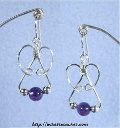 Amethyst & Silver Triple-Bead Earrings