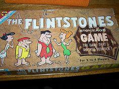 Transogram  1961 vintage Flintstones Stoneage Bedrock board game