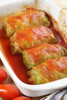 Making Stuffed Cabbage Rolls doesn't have to be a frustrating and daunting task. Learn how to make this delicious comfort food with ease! Great Recipes, Dinner Recipes, Favorite Recipes, Cooking Recipes, Healthy Recipes, Pastry Recipes, Beef Dishes, Ground Beef Recipes, Vegetable Dishes