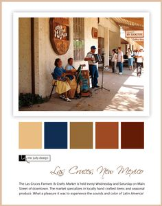 Marketplace influence: Latin American color palette centered around terra-cotta browns. Location: Las Cruces, New Mexico -mejudydesign.com