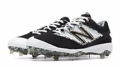 New Balance L4040PK3 Black White Men's Baseball Cleat