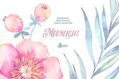 Moonlight. Floral collection by OctopusArtis on @creativemarket