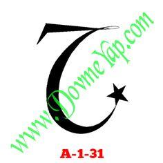 Yıldız Geçici Dövme Şablon Örneği Model No: A-1-31