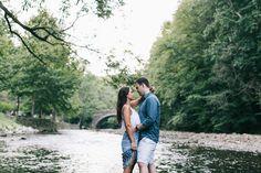 Wissahickon Park Philly Engagement Photos in a river | brittneyraine.com