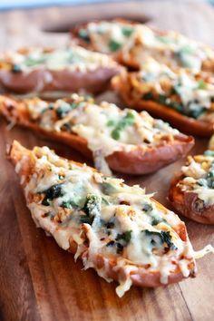 Healthy Chipotle Chicken Sweet Potato Skins | halfbakedharvest.com @hbharvest