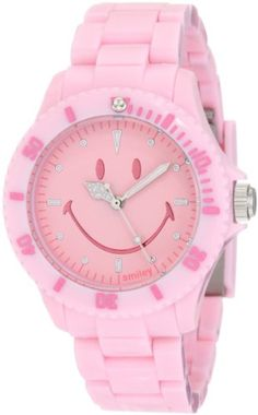 "Smiley ""Happy Time"" Women's WGS-PPPKV01 Pretty Pastel Pink Analogue Watch"