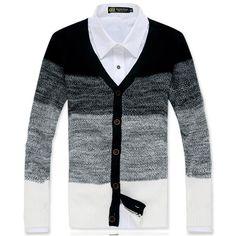 Homens Cardigan 2015 novos homens chegada do listrado Casual com decote em V Cardigan masculino estilo coreano Slim Fit camisola MZL519 em Suéteres de Roupas e Acessórios - Masculino no AliExpress.com | Alibaba Group