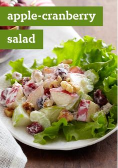 Apple-Cranberry Salad -- The hardest part of this easy salad recipe? Waiting for the mixture to refrigerate. Try this tasty recipe today!