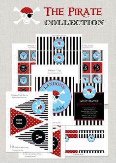Printable Pirate Birthday Party Collection - DIY. $35.00, via Etsy.