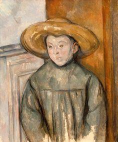 Tablou canvas paul cezanne - boy with a straw hat, 1896 Renoir, Oil On Canvas, Canvas Art, Canvas Prints, Paul Cezanne Paintings, Cezanne Art, Oil Paintings, Paul Gauguin, Museum