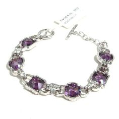 Amethyst with checkboard cut Sterling Silver Bracelet with Rhodium Plated. (7.25 inch in length) WSQUARED2.com. $99.99. Stone: Amethyst. Weight: 19.0 gram. Stamp: S925. Metal: Sterling Silver with Rhodium Plated. Size: 185 mm or 7.50 inch in lenght Sterling Silver Bracelets, Jewelry Bracelets, Birthstones, February, Amethyst, Bling, Stamp, Metal, Step By Step