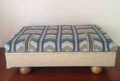 Upcycled Pallet footstool Pouffe by Bowiebellefurniture on Etsy