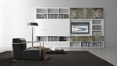 Pari & Dispari Arrangements with fireplaces by Presotto | Wall ...
