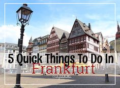 Frankfurt am Main certainly has a lot to offer for anyone looking for something. But when you're short on time because you decided to make the most out of squeezing some sightseeing in in jus…