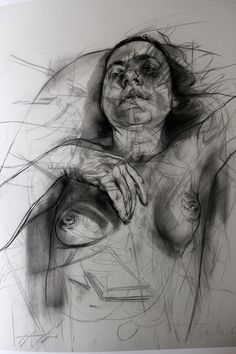 The Fine Art Nude, alexanderreynolds: Jenny Saville Time II--i cant even handle how this drawing is, guys Jenny Saville, Figure Painting, Painting & Drawing, A Level Art, Old Art, Pablo Picasso, Life Drawing, Drawing People, Figurative Art
