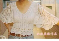 Crochet Knit Free Patterns Charts Tops Blouse Shirts