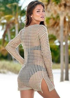 3312a885cc Bohemian Crochet Hollow Out Cover Up. Swimsuit CoverSwim CoverBathing SuitsWrap  Bathing SuitBikinisBikini ...