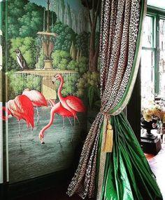 Decoration Inspiration, Interior Inspiration, Design Inspiration, Decor Ideas, Travel Inspiration, Decorating Ideas, Kips Bay Showhouse, Maximalist Interior, Hand Painted Wallpaper