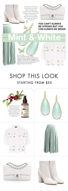 """Mint & White"" by narminabasoffa ❤ liked on Polyvore featuring Panacea, Topshop, Chicwish and Chanel"