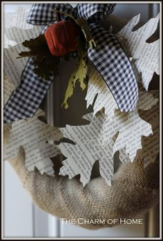 The Charm of Home: Book Page Wreath