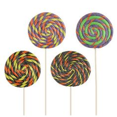 """RAZ Glittered Lollipop Halloween Decoration Set of 4  4 Assorted styles, set includes one of each style Made of Polyfoam Measures 6.75"""" with 16"""" Stem  RAZ Halloween Collection"""