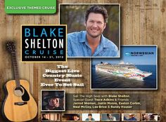 Can't wait for my Blake Shelton and Friends Cruise ;-)