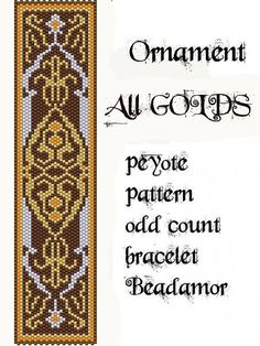 Peyote Pattern for bracelet: All Golds  INSTANT par Beadamor