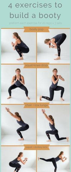4 exercises to build a better booty