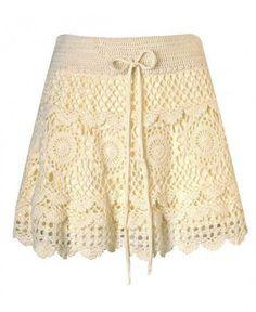 Mini skirt crochet PATTERN, boho crochet skirt pattern, detailed description in English for every row, sexy crochet mini skirt with ruffles. Crochet Skirt Pattern, Crochet Skirts, Knit Skirt, Crochet Clothes, Crochet Patterns, Lace Skirt, Crochet Ideas, Knit Dress, Gilet Crochet