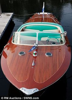 Speedboat to the stars: This stunning 1958 Riva Tritone was the property of Prince Rainier and his glamorous wife, the Hollywood actress Grace Kelly