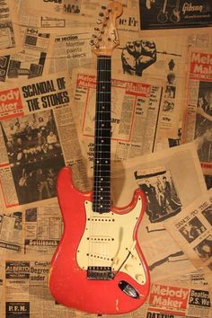 "Fender USA/1962 Stratocaster ""Original Fiesta Red & Slab Finger Board""/ビンテージ/¥ASK/状態:B+"