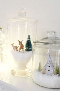 Christmas DIY: Christmas Jars by Th Christmas Jars by The Idea Room and other great DIY Christmas decorations Christmas Jars, Homemade Christmas Gifts, Winter Christmas, Christmas Time, Elegant Christmas, Christmas Scenes, Christmas Glasses, Christmas Lights, Christmas Manger