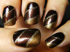 Sally Hansen Co-Co a Go-Go, Sinful Colors Rich in Heart, NYC Backstage Brown, LA Colors 24K Gold
