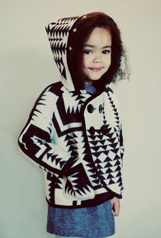 Love the jacket, and this model looks like she could be my little boomba :P