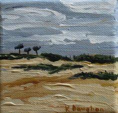 Florida Seascape Oil Painting St. Augustine by kathleendaughan, $60.00