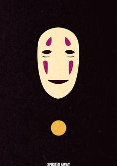 ... Minimalist Spirited Away poster ...