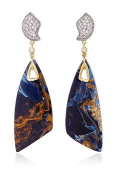 Petra One of a Kind Earrings by Kara Ross for Preorder on Moda Operandi