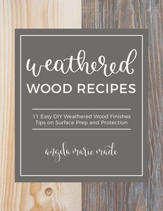 Easy tutorial on how to create a weathered wood gray finish. Make new wood look like old weathered wood or refinish your furniture with this wood finish. Outdoor Couch, Diy Outdoor Furniture, Diy Furniture, Diy Bar Cart, Painting Tile Floors, Diy Wood Signs, Pantry Labels, Diy Holz, Ship Lap Walls