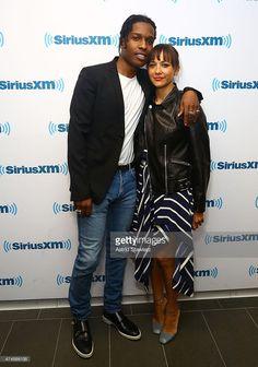 Rapper A$AP Rocky and actress Rashida Jones visit the SiriusXM Studios on May 27, 2015 in New York City.