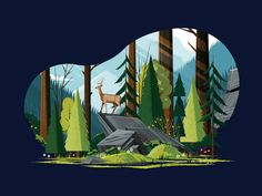 Woodsy Landscape by Matt Carlson Weekly Inspiration for Designers – Muzli -Design Inspiration Art And Illustration, Character Illustration, Graphic Design Illustration, Nature Vector, You Draw, Environmental Art, Graphic Design Inspiration, Vector Art, Concept Art