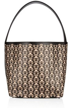 Laser-cut leather tote by Alaia