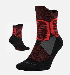 Nike Hyper Elite High Quarter Cushioned Men's Socks, Size Large - Black/Red for sale online Nike Basketball Socks, Basketball Games For Kids, Nike Elite Socks, Nike Socks, Nike Shoes For Boys, Hype Clothing, Athletic Gear, Sport Wear, Large Black