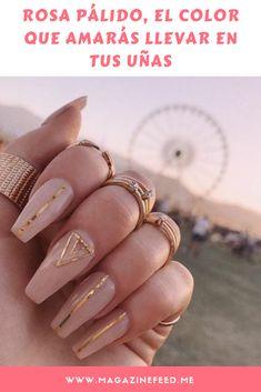 Pin on Nageldesign - Nail Art - Nagellack - Nail Polish - Nailart - Nails Blush Nails, Nude Nails, Pink Nails, My Nails, Coffin Nails, Fall Nails, Stiletto Nails, Summer Nails, Chic Nails