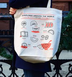 Dumpling Around the World canvas tote via Plate & Pencil