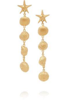 Valentino Gold-tone earrings | NET-A-PORTER
