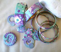 Pastel - Pearl colors bracelets by klio1961, via Flickr