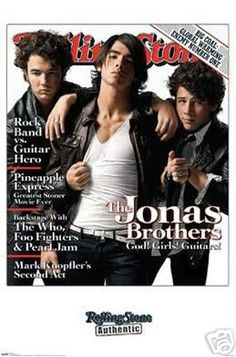 Jonas Brothers Rolling Stone Cover Music Poster